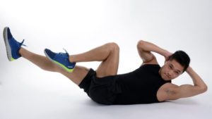 Man bicycle lower abs