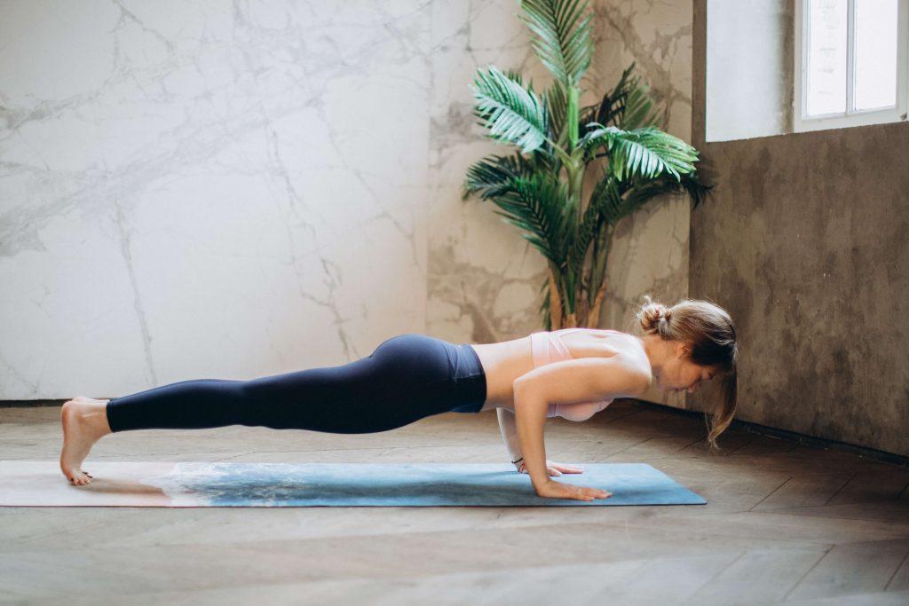 push up plant woman yoga
