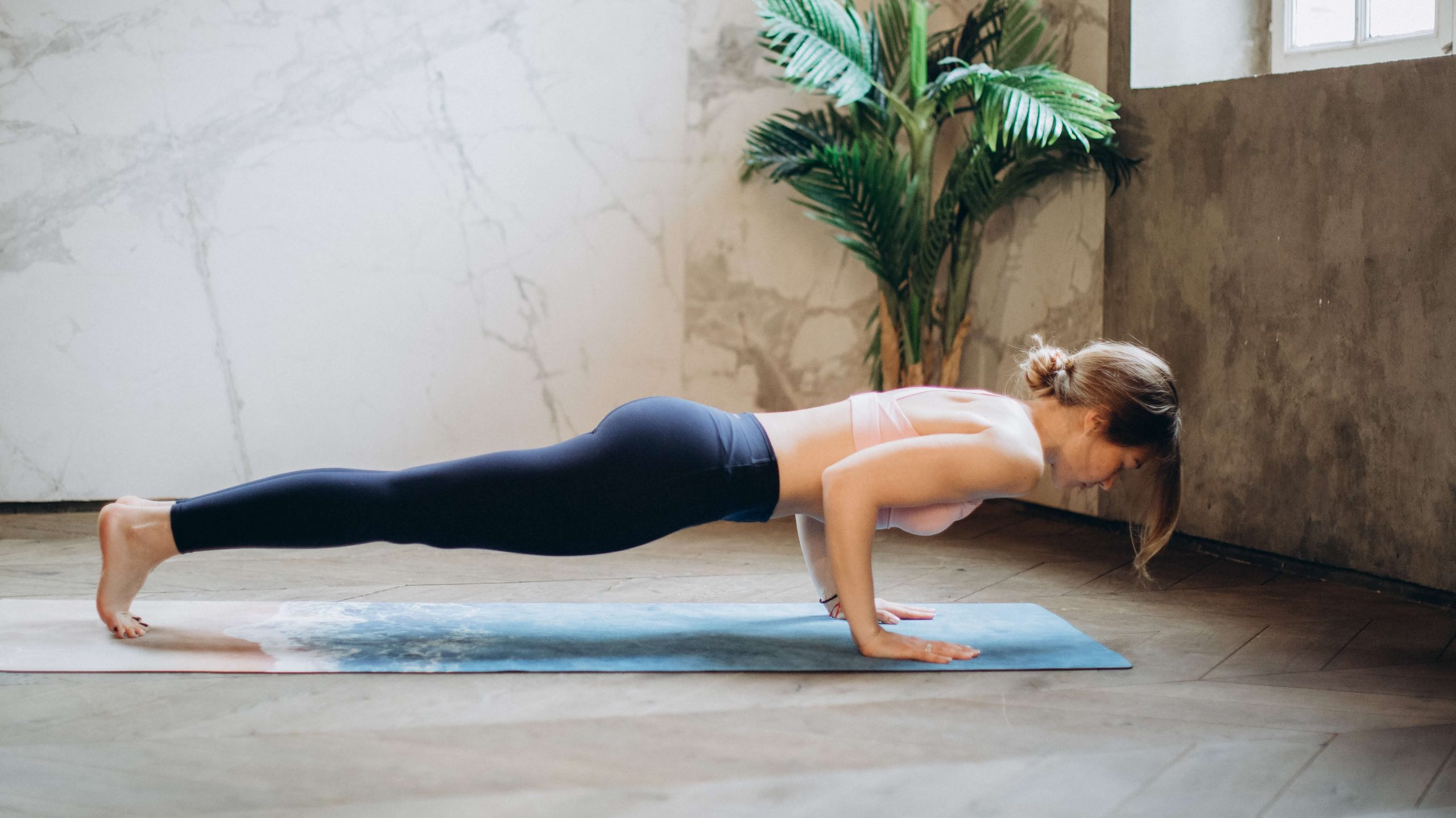 push up plant woman yoga
